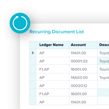 Recurring Documents TechnologyOne